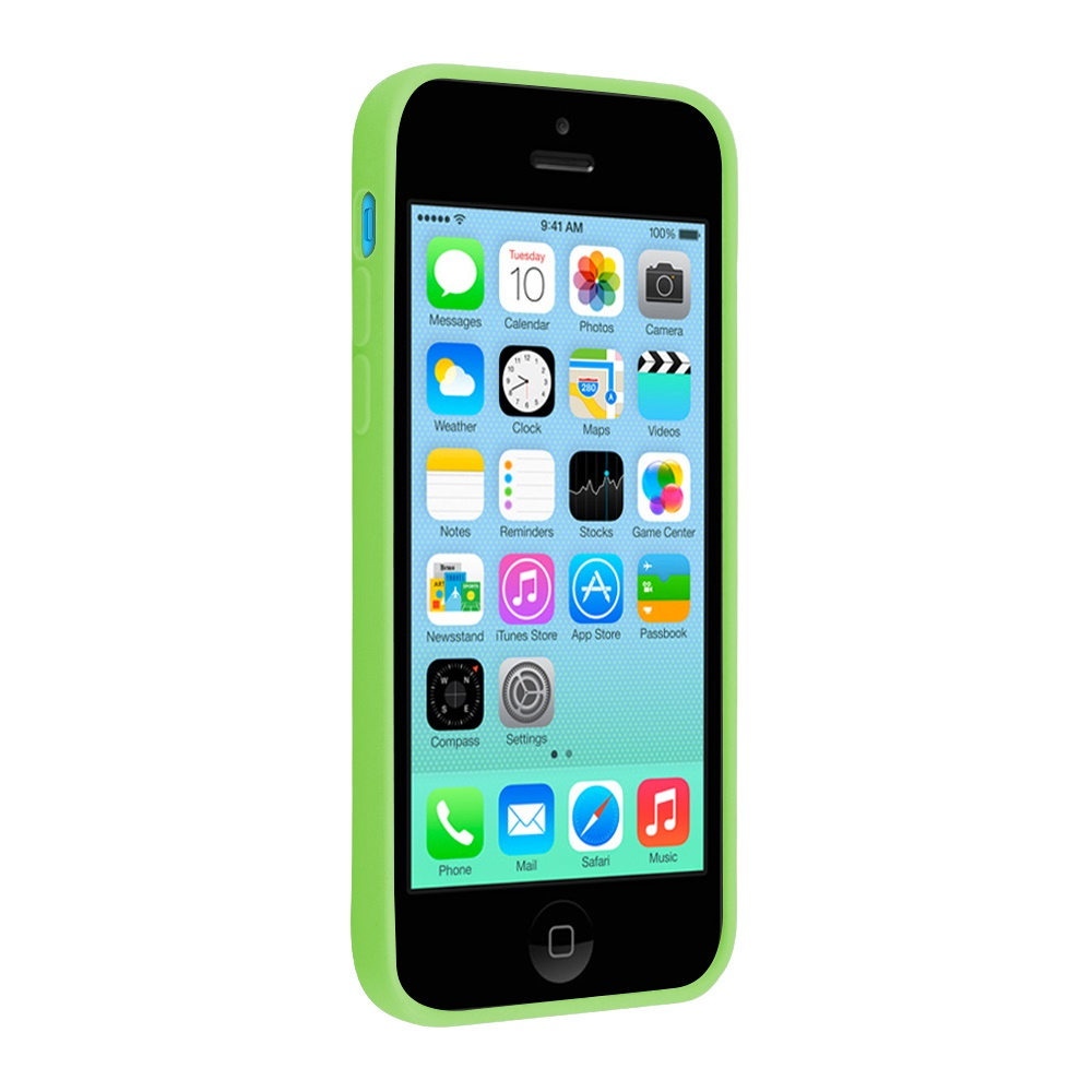 Apple Silicone Case for Apple Phone 5C (Green)