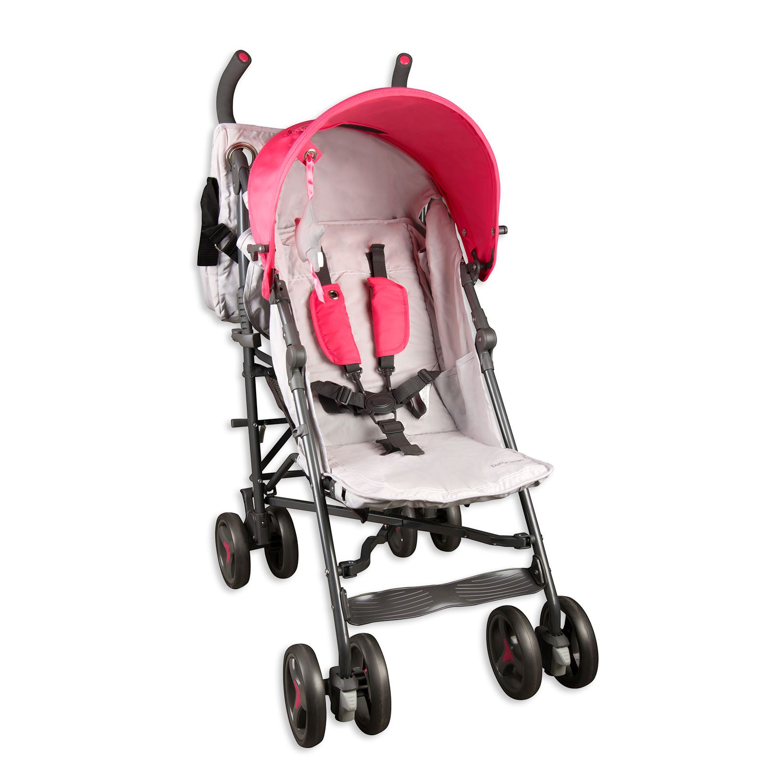 Baby Cargo Series 50 Deluxe Lite Baby Stroller (Pink/Gray) BBC-50SERIES-PK-A1