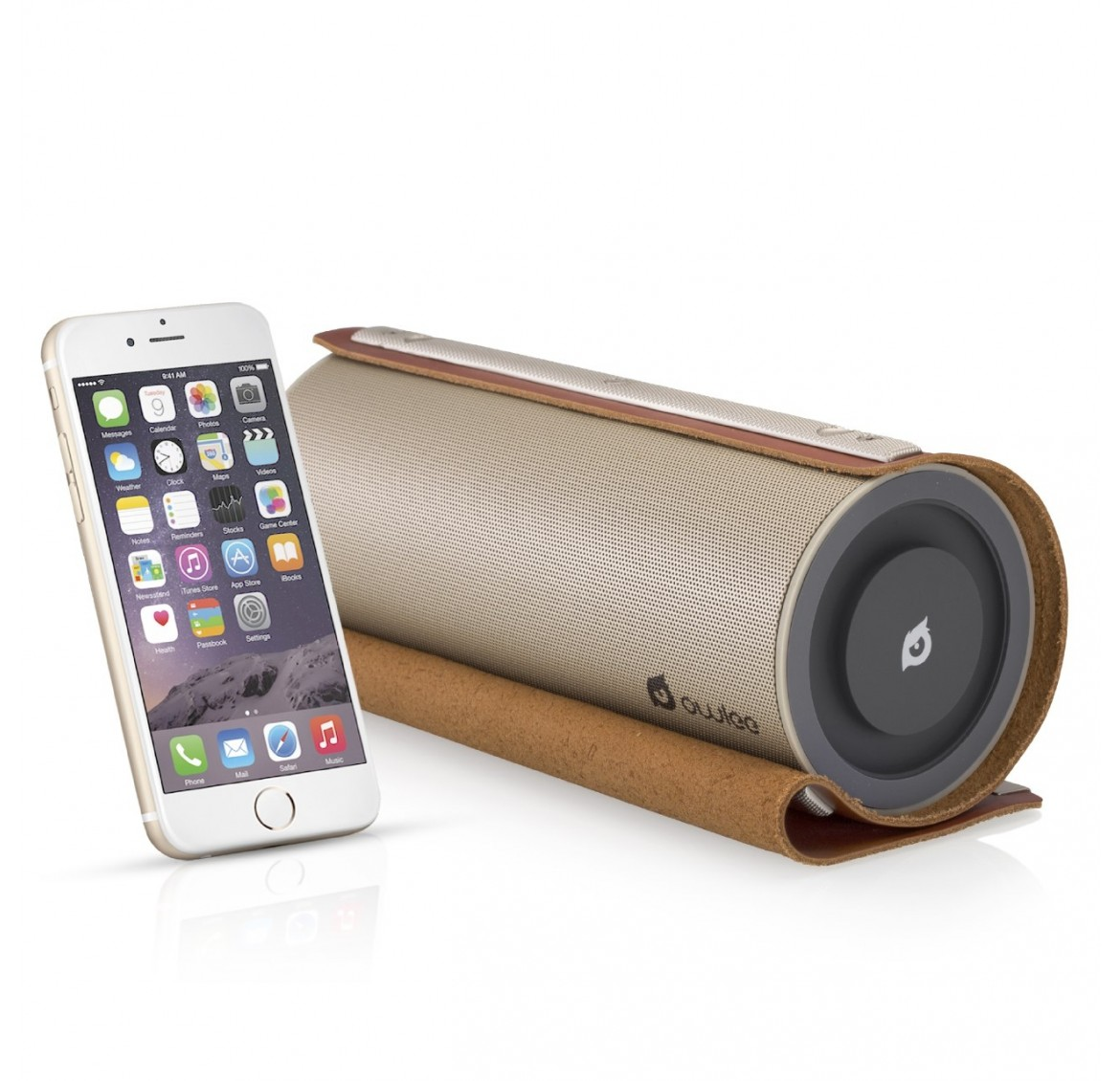 Owlee Scroll™ Vintage Leather Bluetooth Speaker (Brown)
