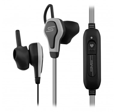 SMS Audio BioSport Smart Earbuds with Integrated Heart Monitor (Gray)