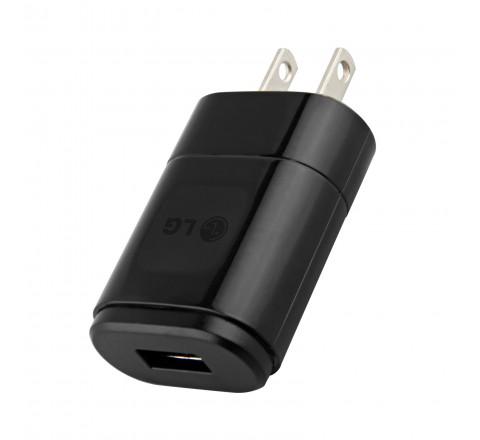LG MCS-01WR 5V 1.2A USB Charging Cube (Black)