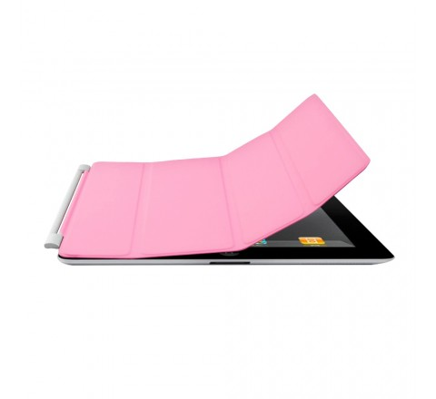 Apple Polyurethane Smart Cover for Apple iPad 2/3/4 (Pink)