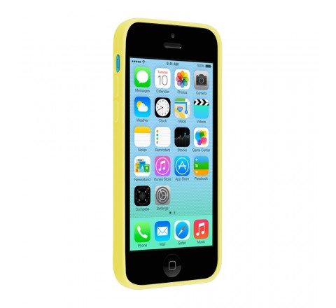 Apple Silicone Case for Apple Phone 5C (Yellow)