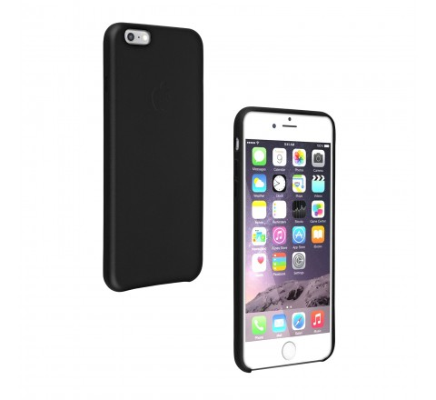 Apple Leather Protective Case for iPhone 6 Plus and 6s Plus (Black)