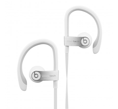 Powerbeats 2 by Dr. Dre Wired In-Ear Headphones with RemoteTalk Cable (White)