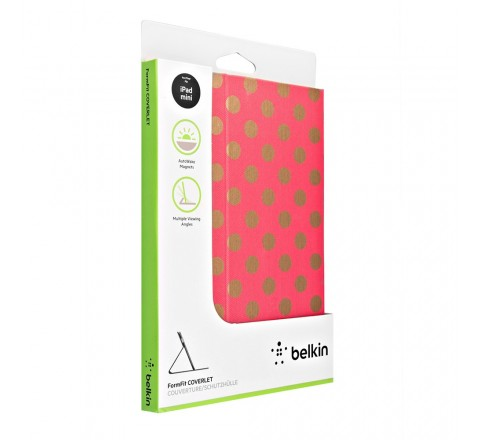 Belkin Formfit Coverlet for Apple iPad Mini, iPad Mini Retina (Metallic Gold Dot/Sorbet)