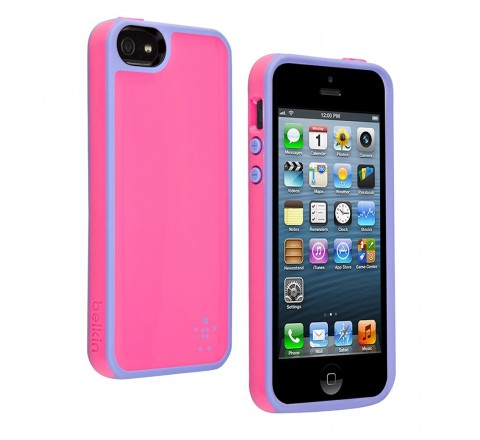 Belkin Grip Max Case Cover for Apple iPhone 5/5S/SE (Pink/Lavender)