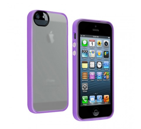Belkin Grip Candy Case for Apple iPhone 5/5S/SE (Clear/Purple)