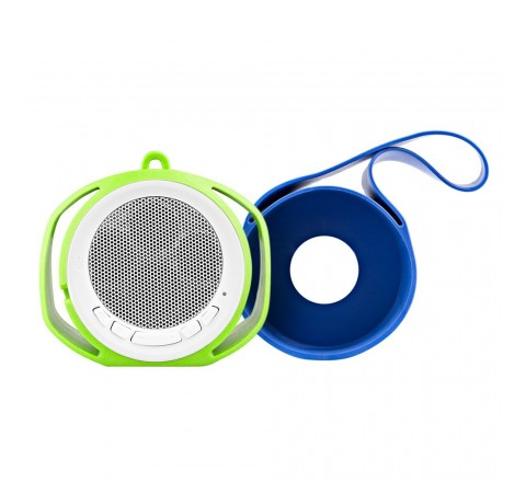 BlueFlame Slingshot Bluetooth Speaker with Slings (Blue/Green)
