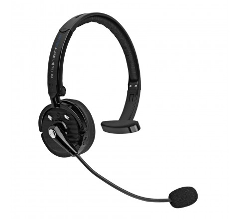 Blue Tiger Deluxe Wireless Bluetooth Headset with Mic (Black)