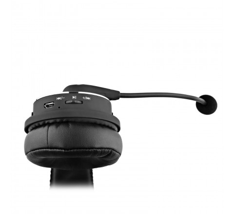 Blue Tiger Dual Elite Wireless Bluetooth Headset with Mic (Black)