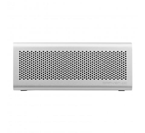 Braven 650 Portable Bluetooth Speaker w/ Built-in 2000 mAh Power Bank (Silver)