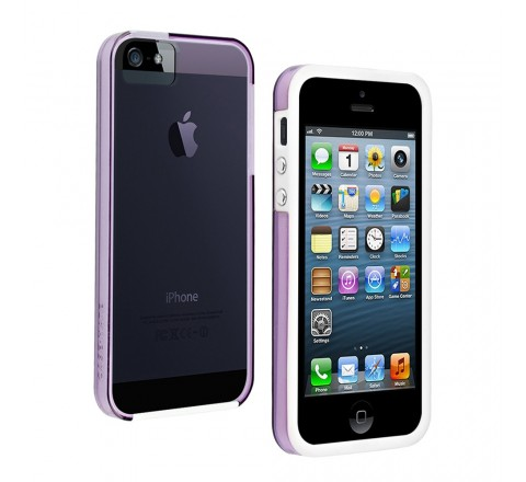 Case-Mate Naked Protective Color Case Apple iPhone 5/5S/SE (Violet/White)