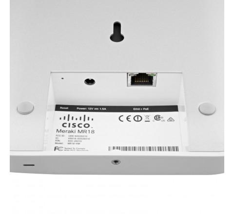 Cisco Meraki MR18 Dual-Band Cloud-Managed Wireless Network Access Point (White)