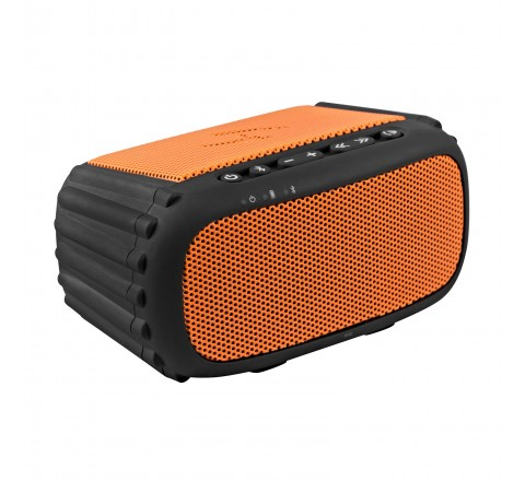 Ecoxgear ECOROX 100% Waterproof Portable Rugged Outdoor Wireless Bluetooth Speaker with Built-In Mic (Orange)