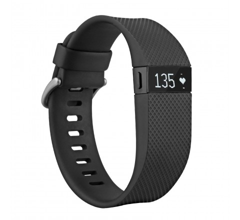 Fitbit Charge HR Heart Rate and Wireless Activity Wristband (Black-Small)