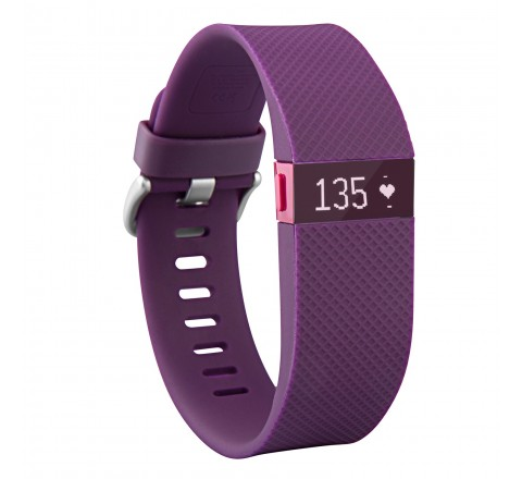 Fitbit Charge HR Heart Rate and Wireless Activity Wristband (Purple-Small)