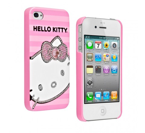 Hello Kitty Hard Cover for Apple iPhone 4, 4S (Pink)