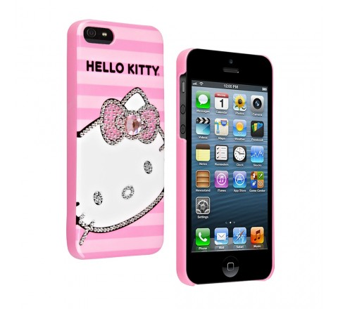 Hello Kitty Bling Protective Hard Case for Apple iPhone 5/5S/SE (Pink)
