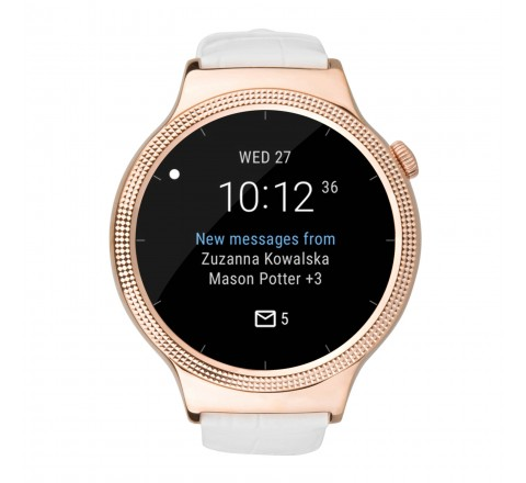 Huawei Elegant Smartwatch 44mm iPhone and Android (Pearl White)