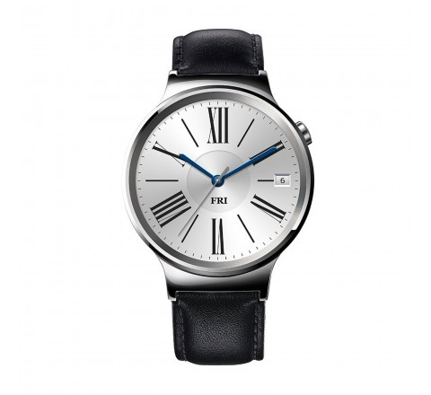 Huawei Stainless Steel Smartwatch with Leather Band (Silver/Black)