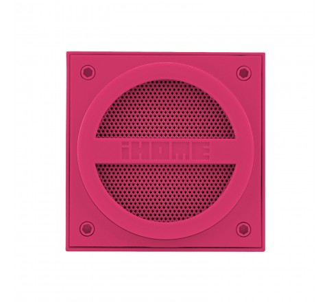 iHome IBT16 Bluetooth Wireless Mini Speaker Cube (Pink)