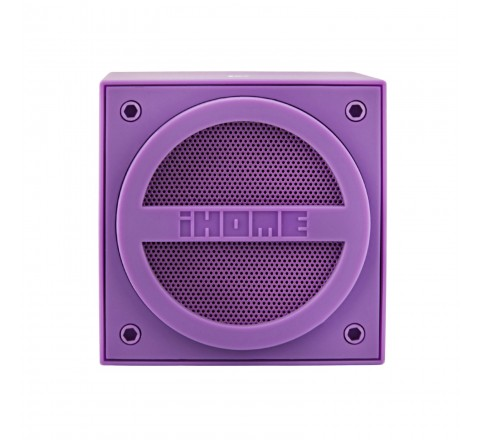 iHome IBT16 Bluetooth Wireless Mini Speaker Cube (Purple)