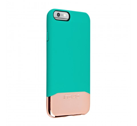 Incipio EDGE Chrome Slider Protective Case for Apple iPhone 6/6s (Teal/Gold)