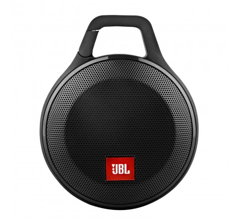 JBL Clip+ Splashproof Portable Bluetooth Speaker (Black)