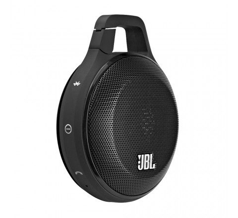 JBL Clip Portable Bluetooth Speaker with Built-in Microphone (Black)