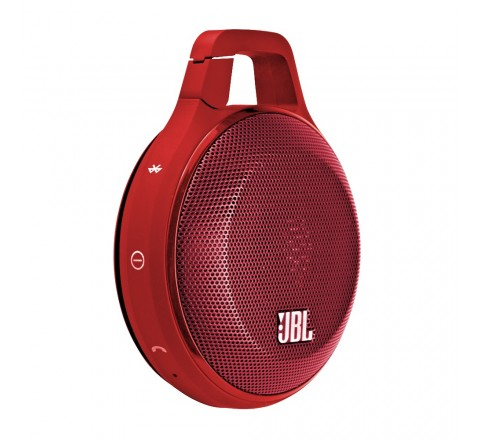 JBL Clip Portable Bluetooth Speaker with Built-in Microphone (Red)