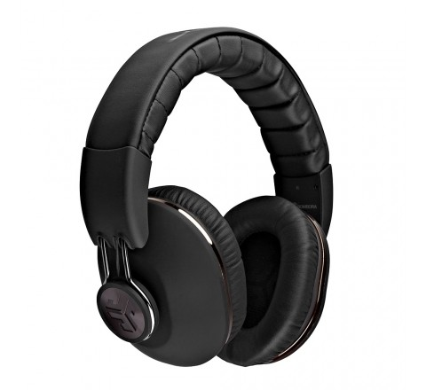 JLab Bombora Over-Ear Headphones with Universal Mic (Matte Black/Gunmetal)
