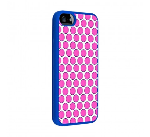 Juicy Couture Silicone Case Cover for Apple iPhone 5/5S/SE  (Polka Dot)