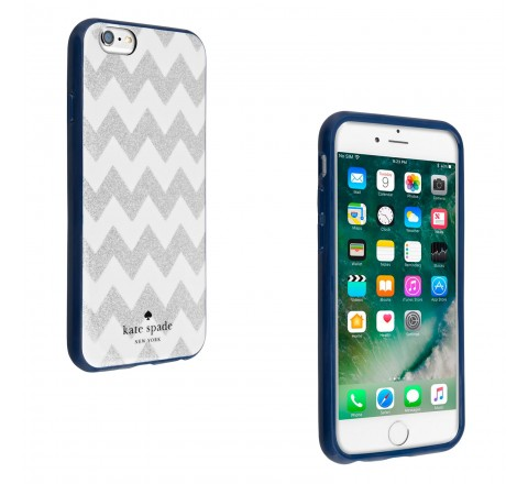 Kate Spade Protective Case for Apple iPhone 6/6S (Chevron Glitter)