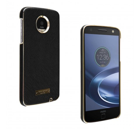 Kate Spade Protective Case For Droid Moto Z Play (Black/Gold)