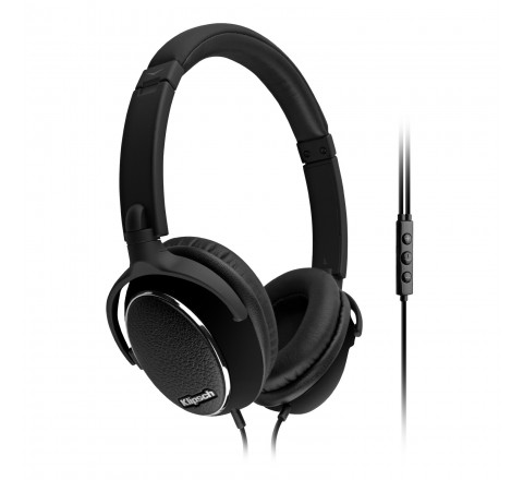 Klipsch Image ONE Premium On-Ear Headphones with Mic and 3-Button Control for Apple Devices (Black)