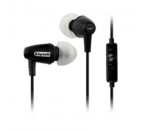 Klipsch Image S3M Noise-Isolating Earbuds with Single Button Remote (Black