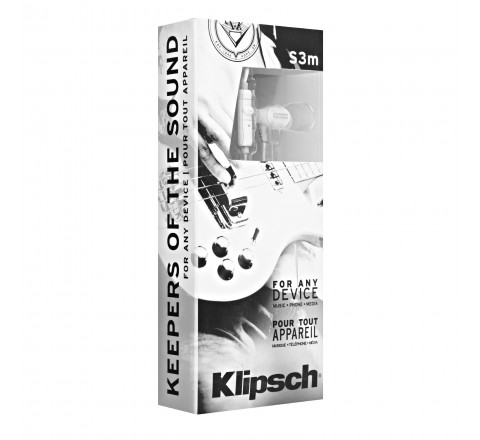 Klipsch Image S3M Noise-Isolating Earbuds with Single Button Remote (White)