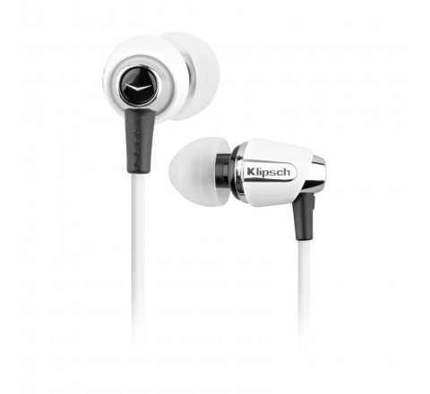 Klipsch Image S4 In-Ear Enhanced Bass Noise-Isolating Earbuds (White)