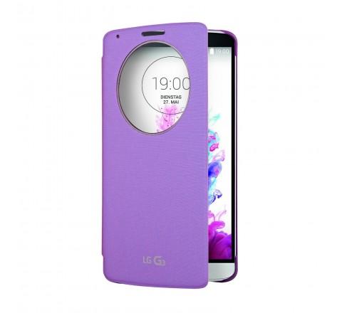 LG Quick Circle Folio Case for LG G3 (Violet)