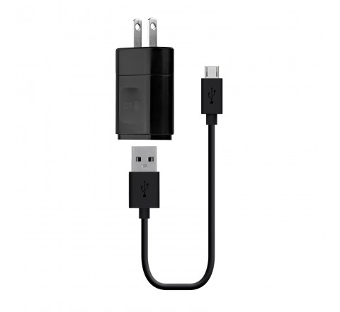 LG Charger with Micro USB Cable for All Phones (Black)