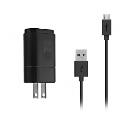 LG Micro USB Wall Charger with Removeable Cable (Black)