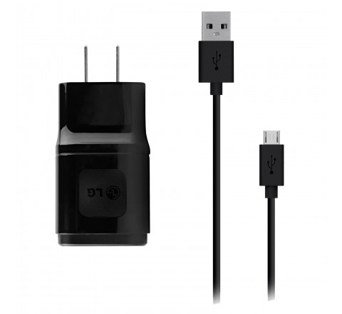 LG MCS-04WT2 1.8A USB Charging Head with Micro-USB Cable (Black)