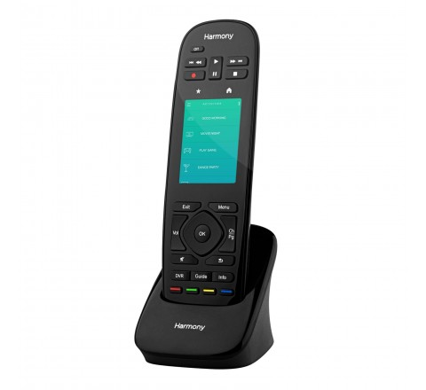 Logitech Harmony Ultimate All in One Remote with Touch Screen and Closed Cabinet RF Control (Black)