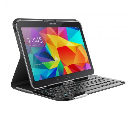 Logitech Ultrathin Magnetic Clip-On Keyboard Cover for Galaxy Tab 4 10.1 (Black)