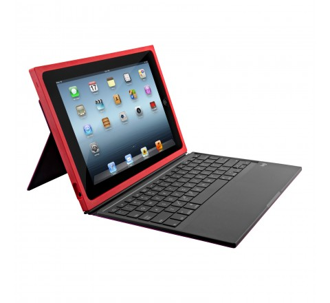 Logitech BLOK Protective Keyboard Case for iPad Air 2 (Red/Violet)