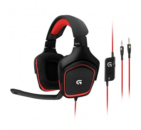Logitech G230 Stereo Gaming Headset (Black)