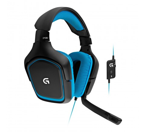 Logitech G430 Surround Sound Gaming Headset (Black/Blue)