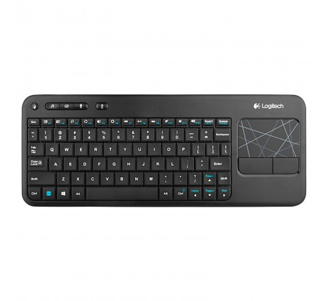 Logitech Wireless Touch Keyboard K400 with Built-In Multi-Touch Touchpad (Black)