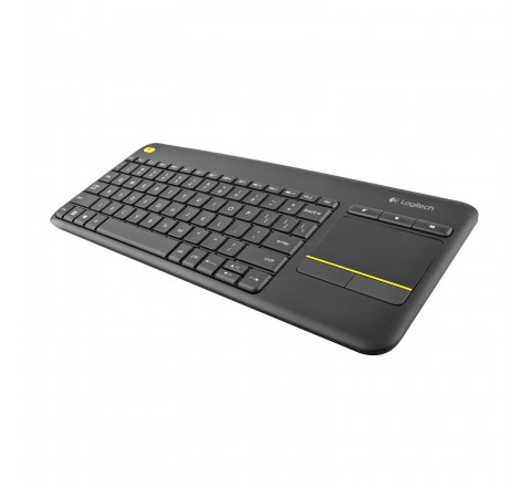 Logitech K400 Plus Wireless Touch Keyboard with Built-In Touchpad (Black)
